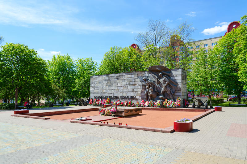 Monument to Liberators of Polotsk, Polotsk, Belarus stock images