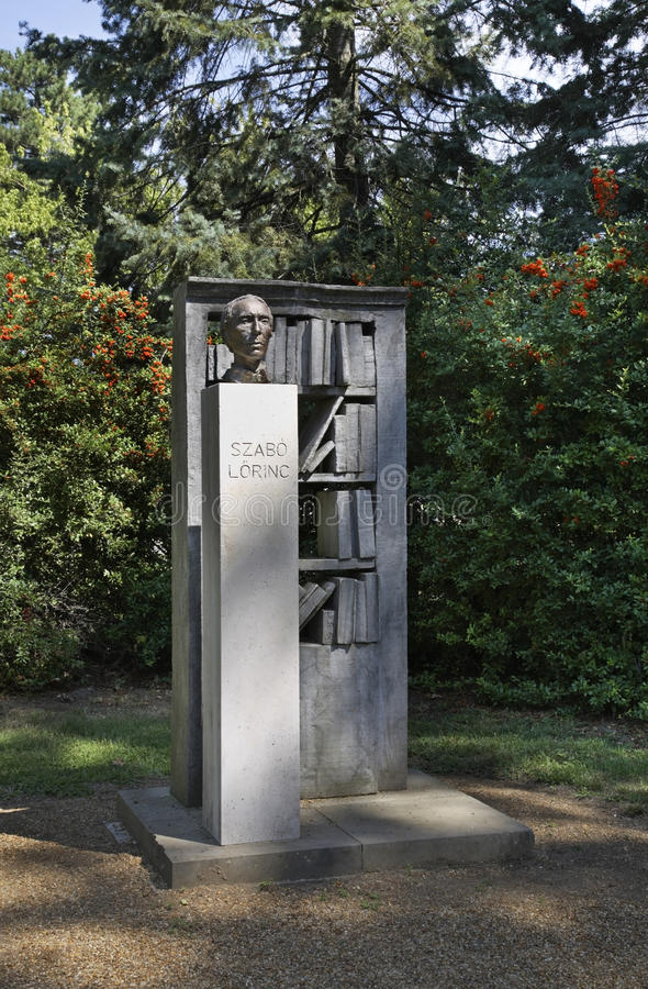 Monument to Lorinc Szabo in Debrecen. Hungary.  stock photography