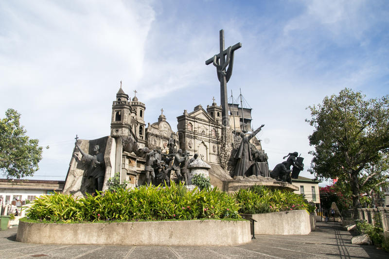 Monument to Magellan, Lapu-Lapu, Risal and all historical figures. royalty free stock photography