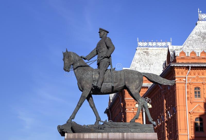 Monument to marshal Georgy Zhukov royalty free stock image