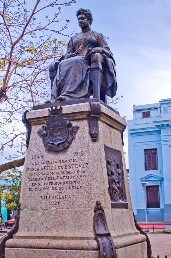 Free Monument To Marta Abreu De Estevez In Vidal Park In Santa Clara Cuba Stock Image - 214875611