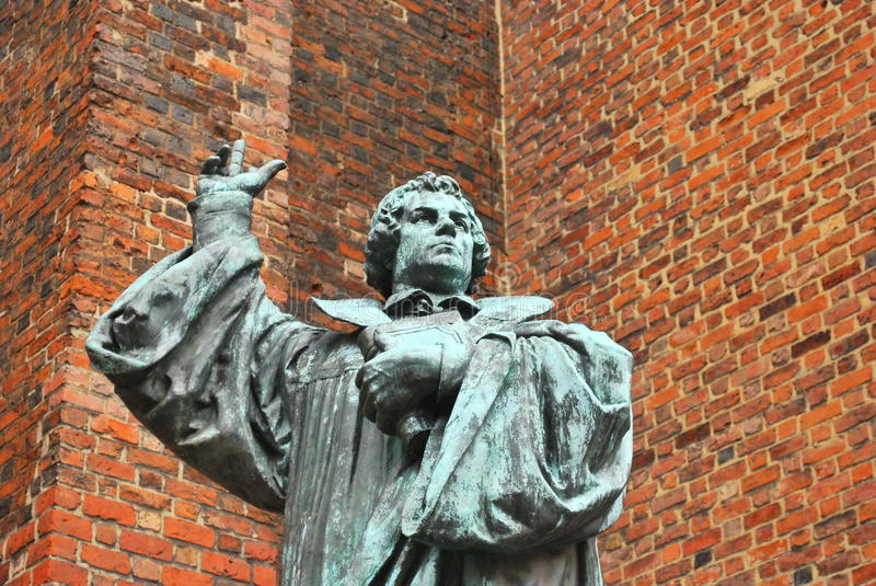 Monument to Martin Luther royalty free stock photography