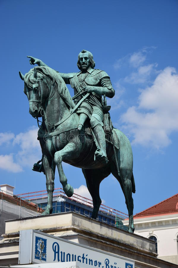 Monument to Maximilian, Prince Elector of Bavaria, in Munich, Germany stock photography