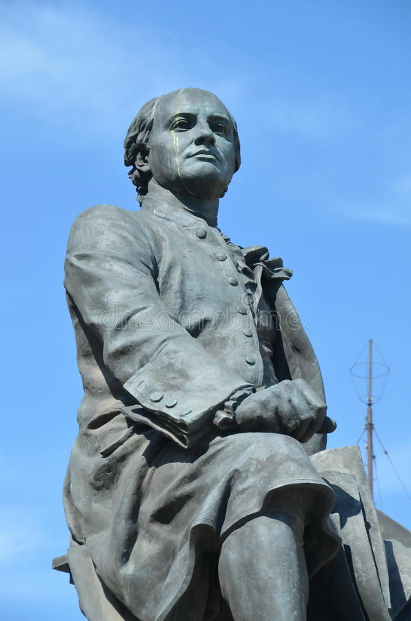 Monument to Mikhail Lomonosov. Great russian scientist royalty free stock image