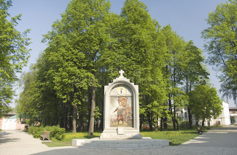 Monument to oath of D. Pozharsky stock photos