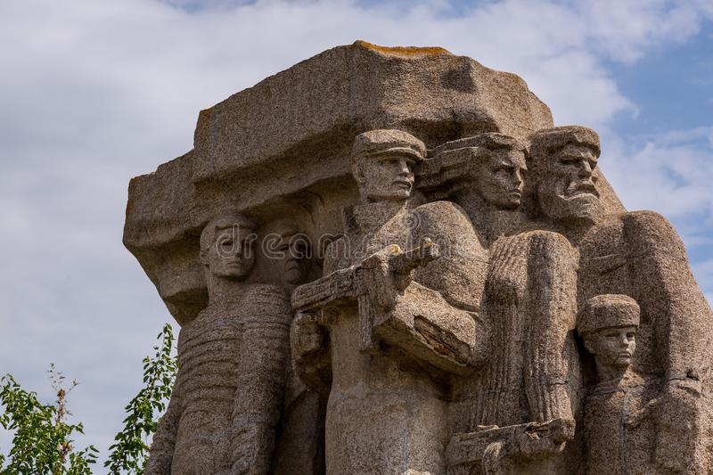 Monument to Partisans who fought against fascism in Odessa. Ukraine stock images