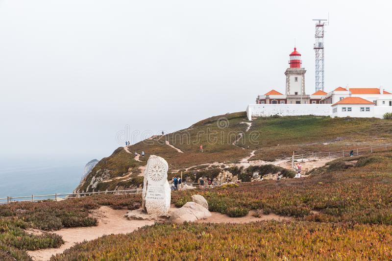 Monument to Paul Harris, Cabo da Roca royalty free stock photo