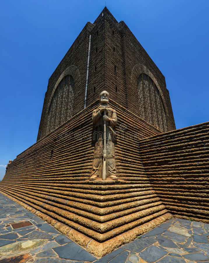 Monument to Piet Retief at Voortrekker Monument. The Voortrekker Monument is located just south of Pretoria in South Africa. This massive granite structure is stock images