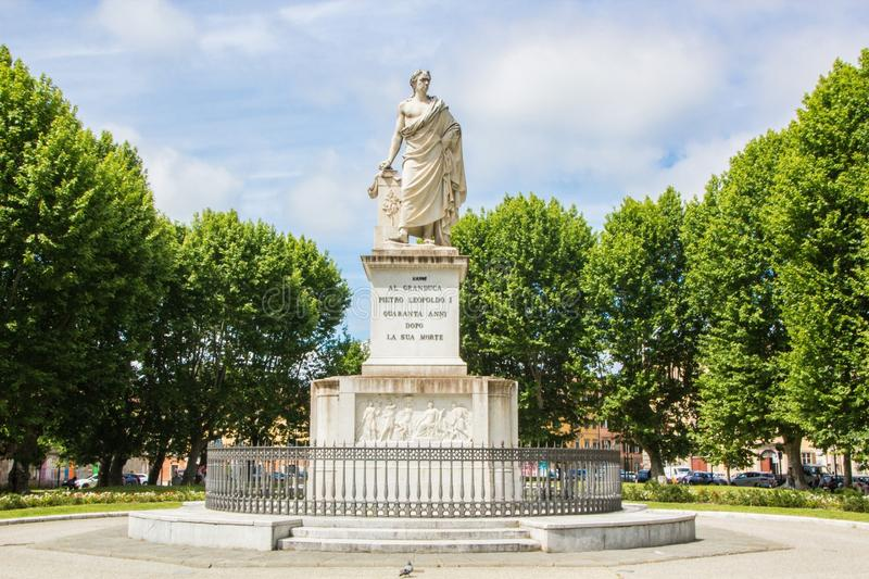 Monument to Pietro Leopoldo I, in Piazza Martiri della Liberta of Pisa. Italy stock images