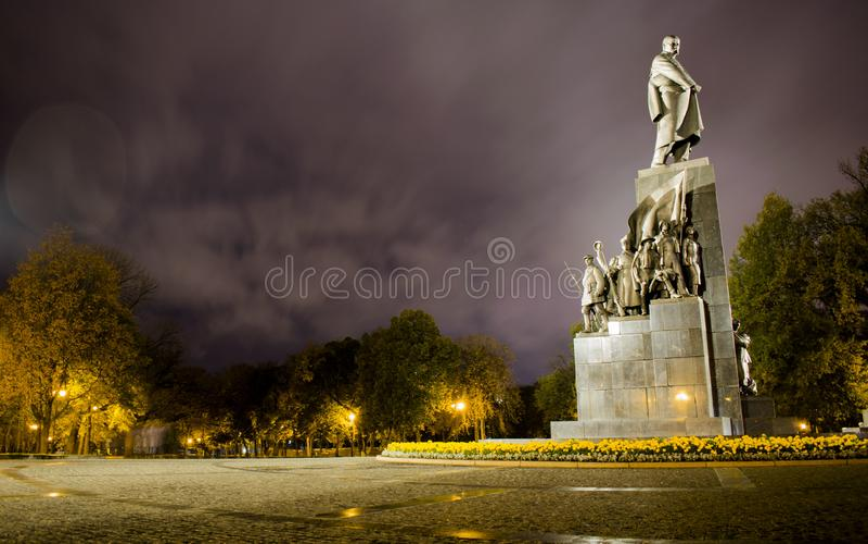 The monument to poet Taras Shevchenko. In Kharkiv royalty free stock images