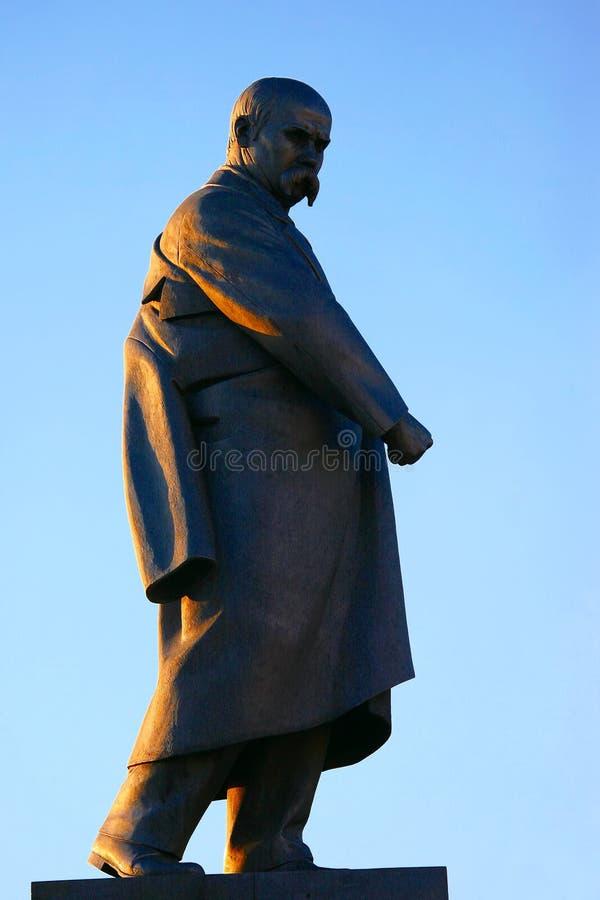 The monument to poet Taras Shevchenko in Kharkiv. Ukraine stock photography