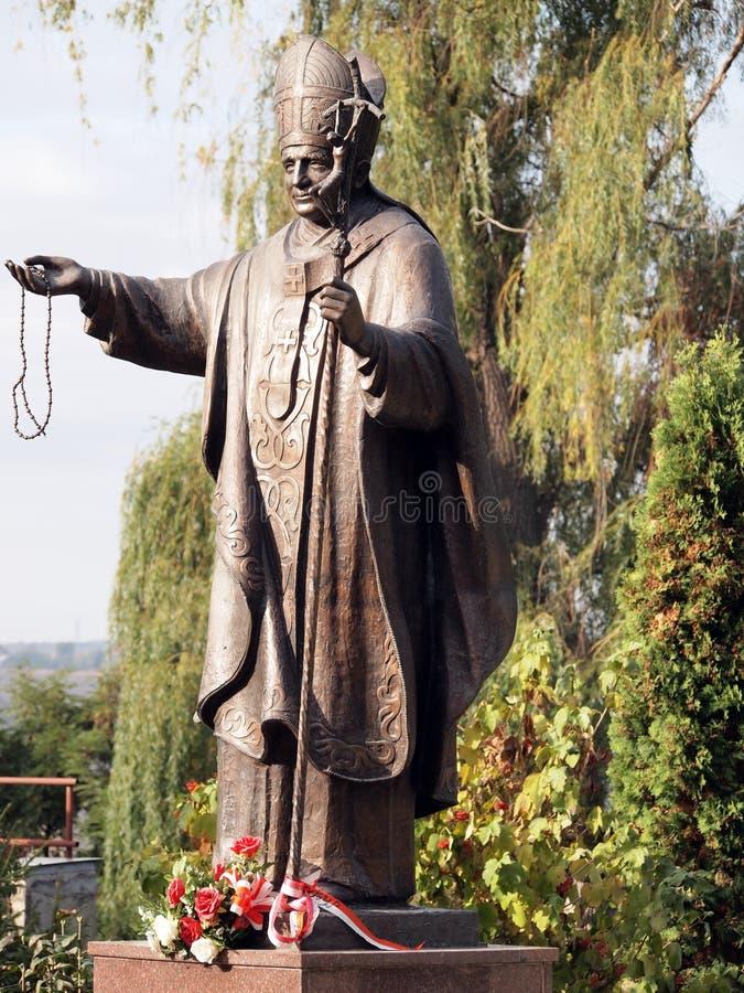 Monument to Pope John Paul II Karol Wojtyla stock images