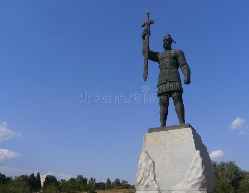 Monument to Prince of Svyatoslav, royalty free stock photo