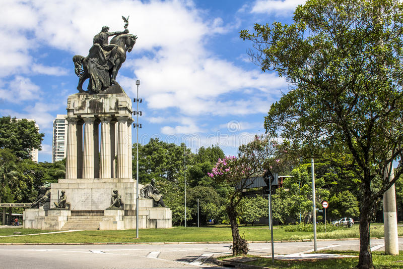 Monument to Ramos de Azevedo royalty free stock photo