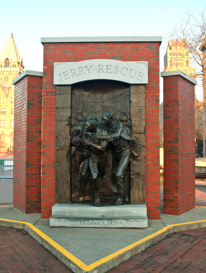 Jerry rescue monument in syracuse, new york