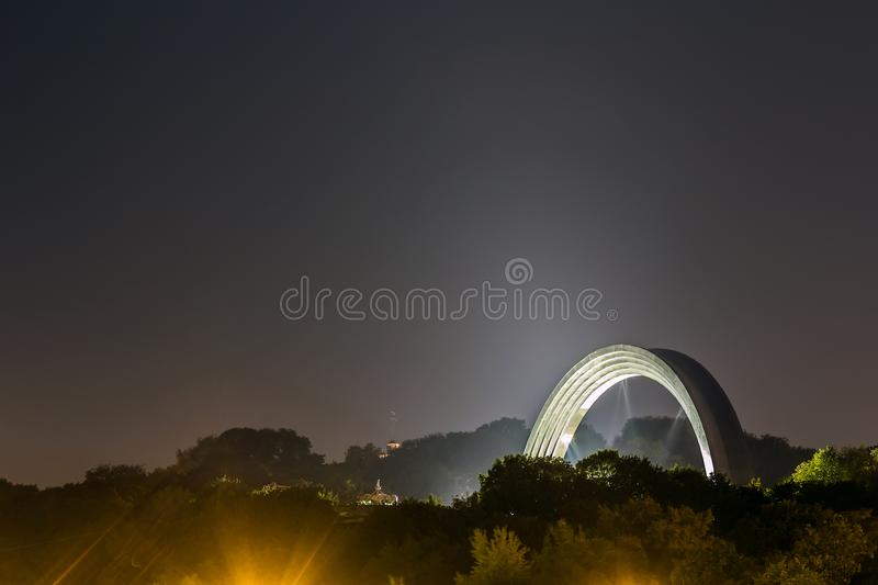 Monument to the reunification of Ukraine and Russia in Kiev, Ukraine. royalty free stock photo