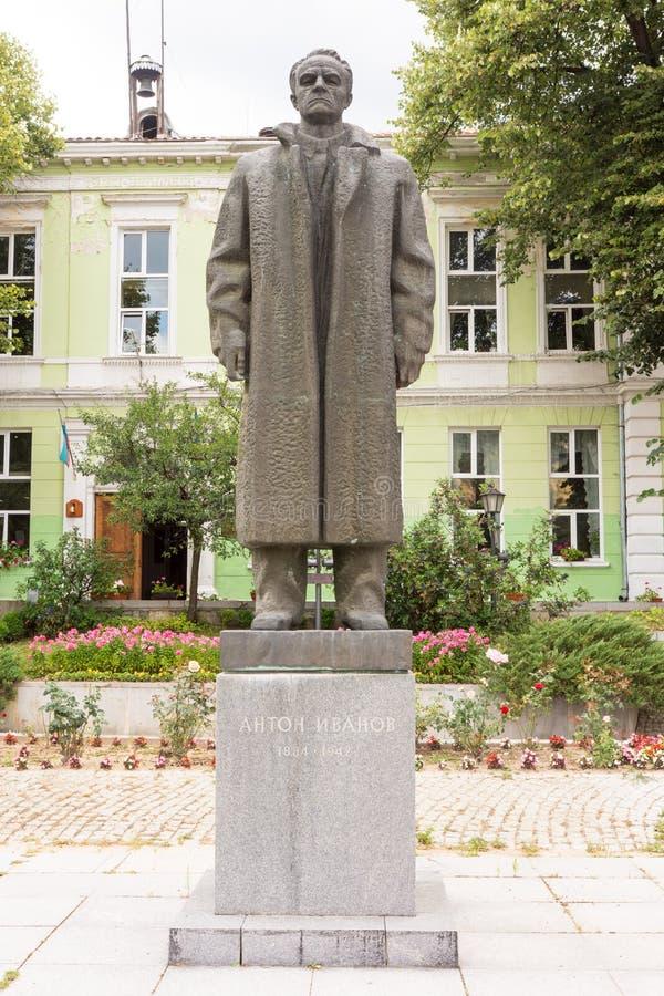 Monument to the revolutionary Anton Ivanov in the center of Koprivshtitsa, Bulgaria royalty free stock images