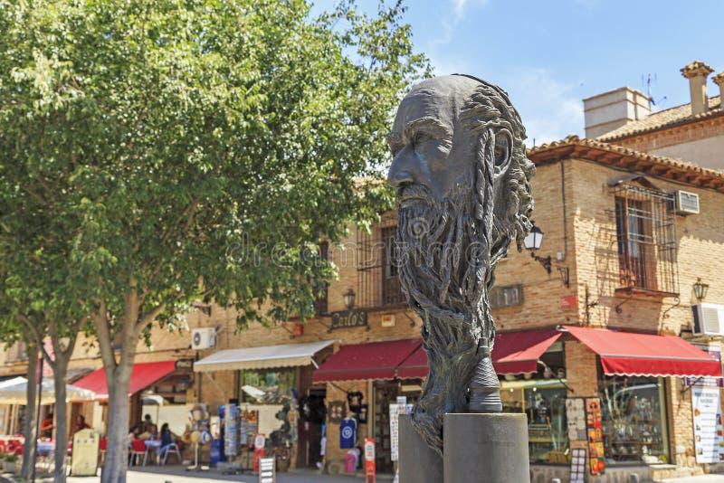 Monument to Samuel Halevi, Toledo, Spain royalty free stock image