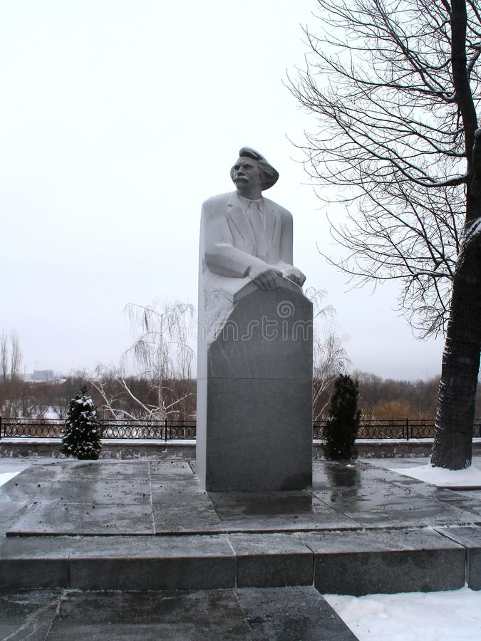 Monument To Sergei-Tsensky. A stroll through the Tambov. Russian Federation. December 18, 2016 royalty free stock photos
