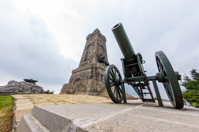 Monument to the Shipka Heroes in Bulgaria stock photos