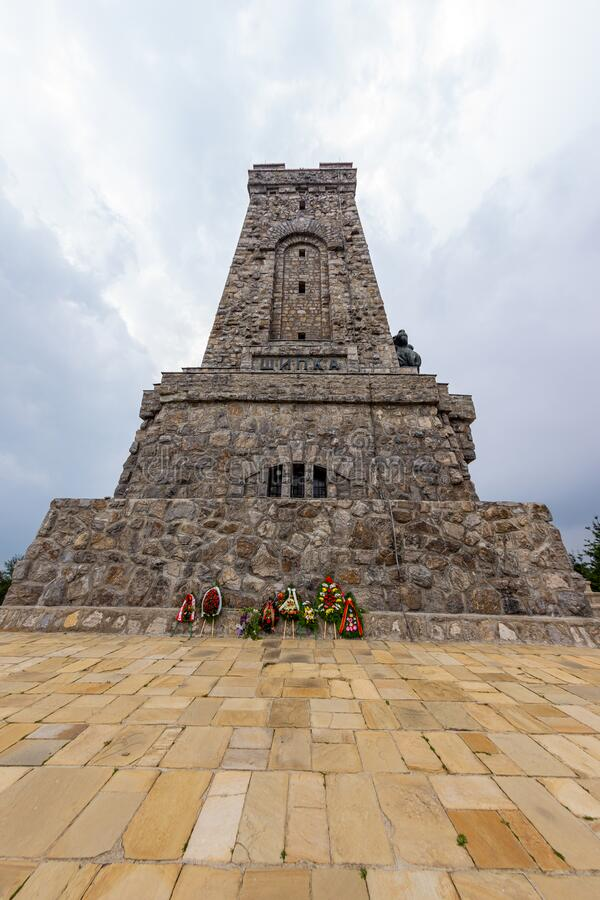 Monument to the Shipka Heroes before the start of the new tourist season royalty free stock image