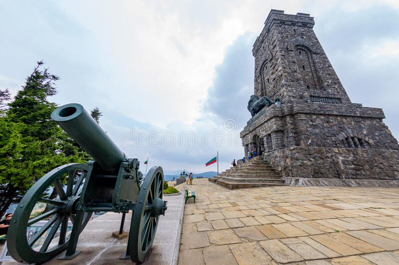 Monument to the Shipka Heroes before the start of the new tourist season stock photos