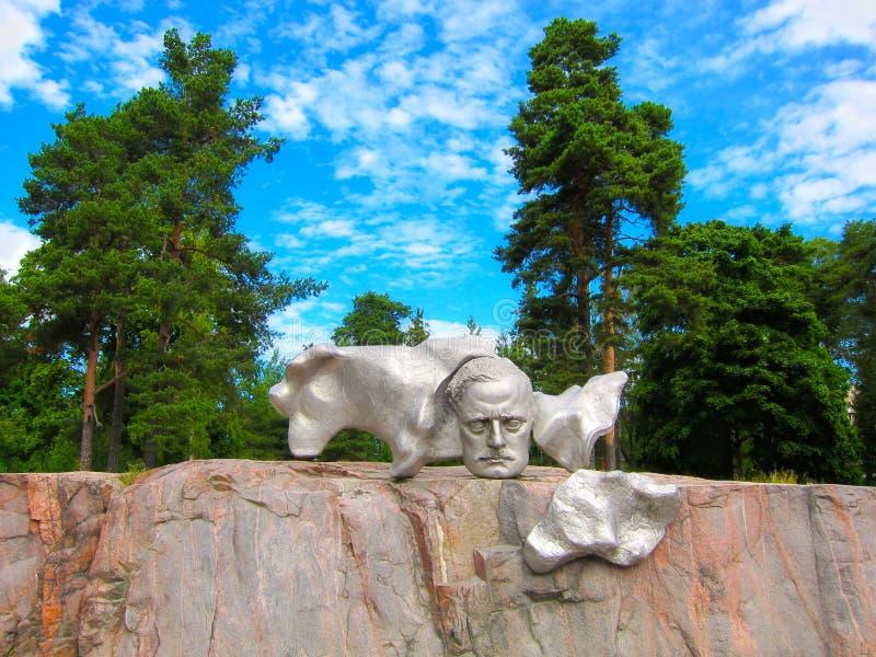 A monument to Sibelius stock photos