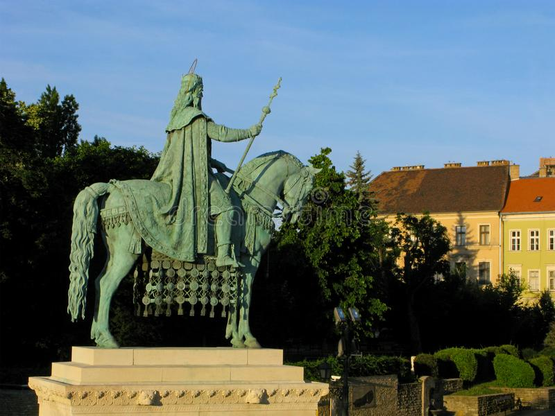 Monument to St. Istvan, Budapest royalty free stock photography