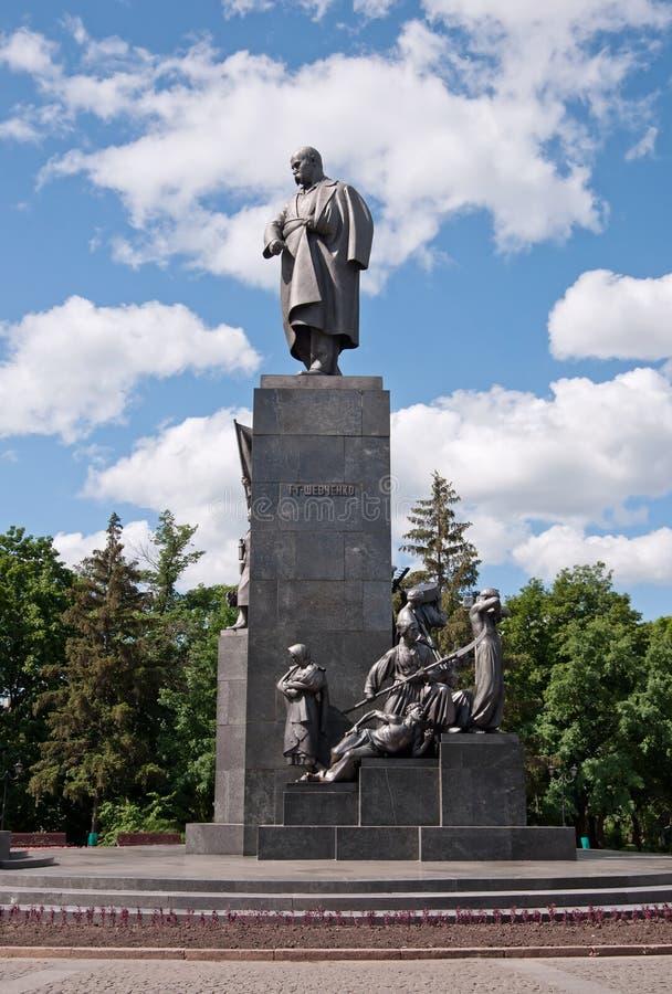 Monument to Taras Shevchenko in Kharkov, Ukraine. Monument to Taras Shevchenko - symbol of Kharkov city, Ukraine. 1935 y, sculptor Manizer, architect Langbard royalty free stock photography