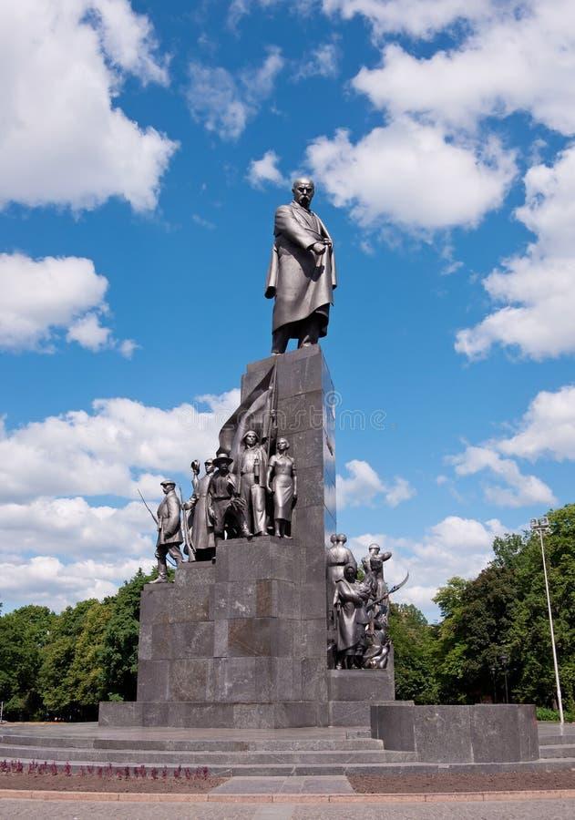 Monument to Taras Shevchenko in Kharkov, Ukraine. Monument to Taras Shevchenko - symbol of Kharkov city, Ukraine. 1935 y, sculptor Manizer, architect Langbard royalty free stock images