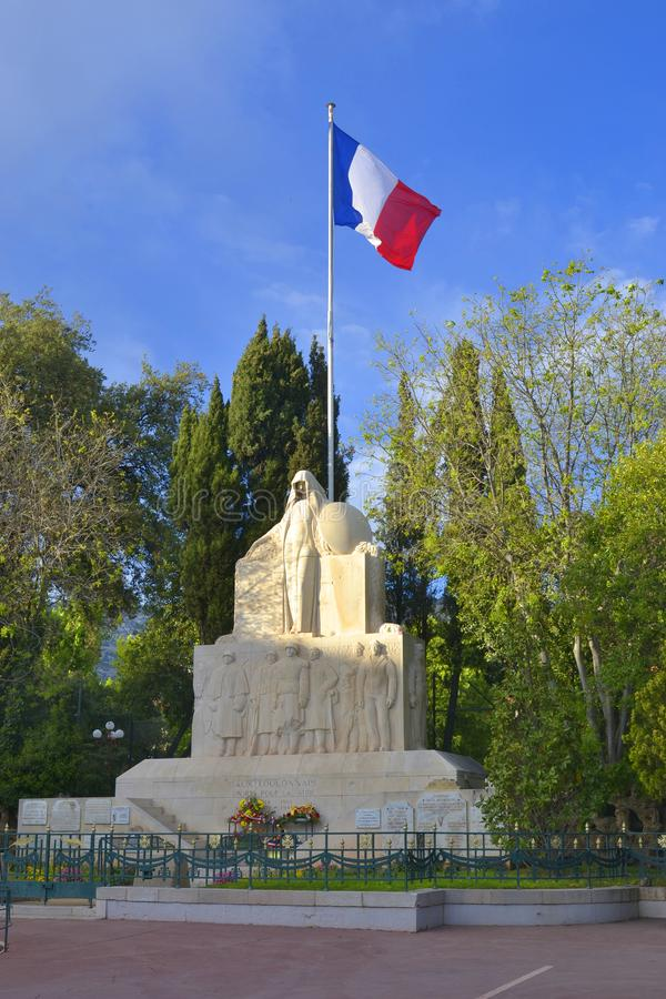 Monument to the Toulon's citizens died in two world wars and during the wars in Algeria and Indochina. Monument to the Toulon's citizens died in World War I stock photo