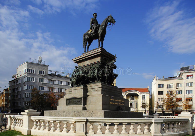 Monument to the Tsar Liberator stock images