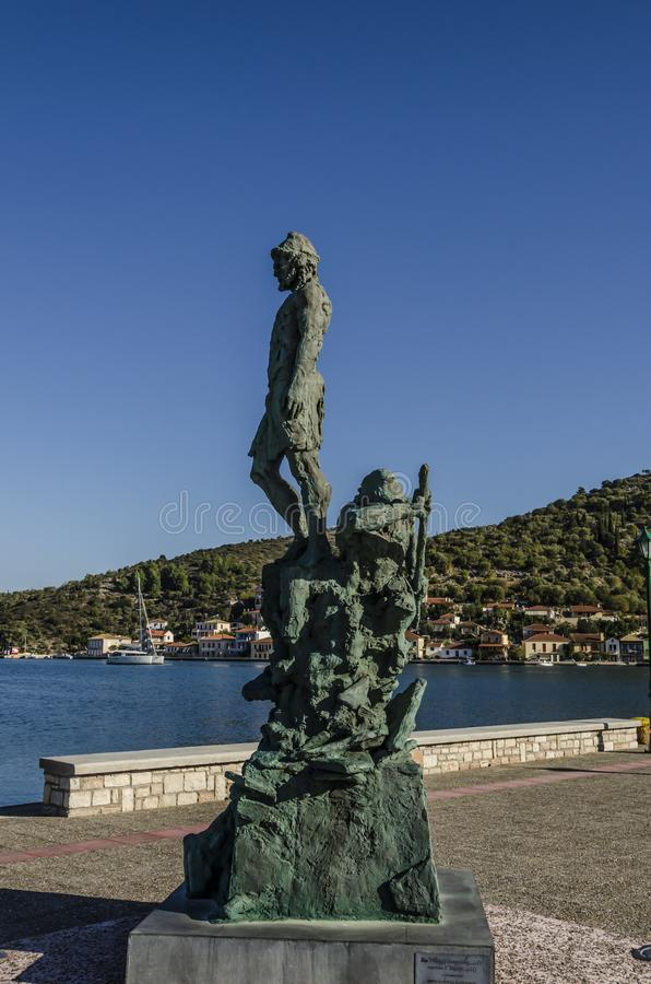 Free Monument To Ulysses In The Port Of Ithaka Stock Photos - 106516023