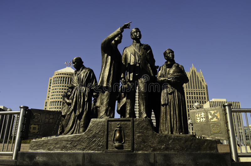 Monument to the Underground Railroad stock image