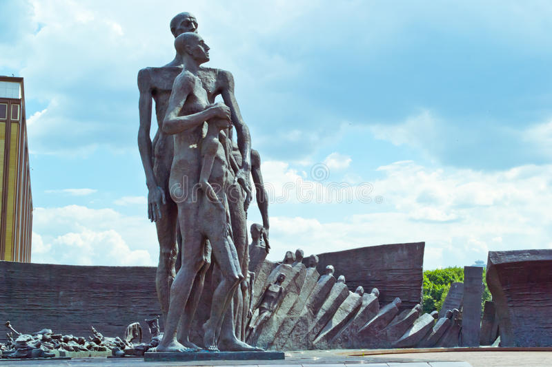 Monument to victims of Nazi concentration camps stock images