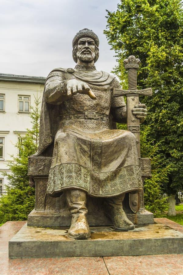 Monument to Yuri Dolgoruky royalty free stock photos