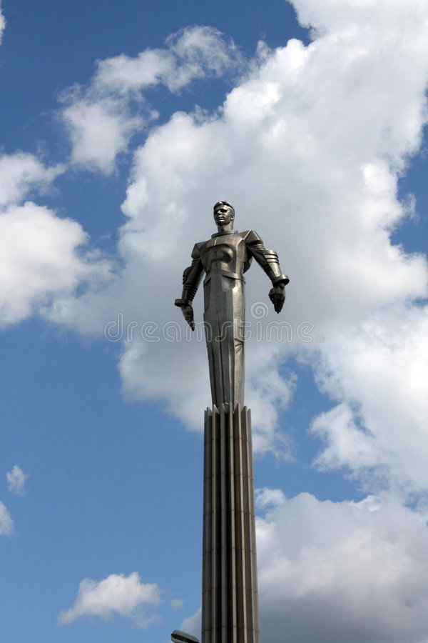 Download Monument to Yuri Gagarin stock image. Image of moscow - 7674549
