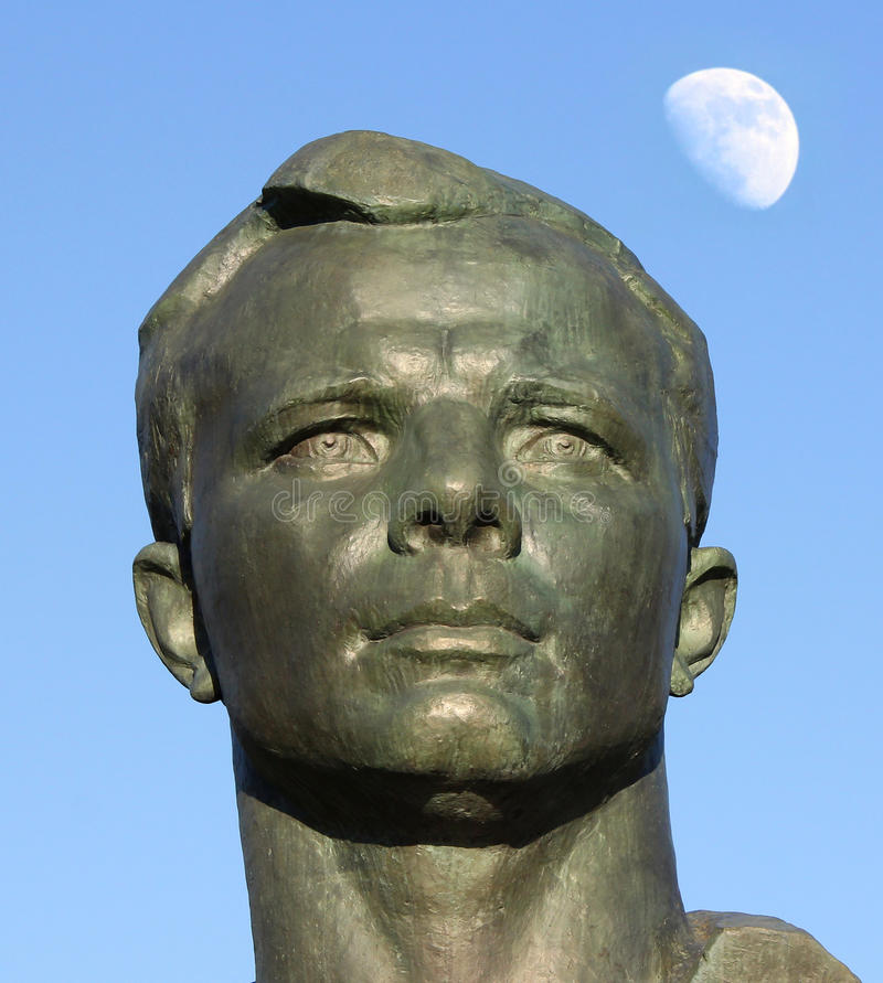 Monument to Yuri Gagarin in the Alley of Cosmonauts, Moscow, Russia. Monument to Yuri Gagarin in the Alley of Cosmonauts, Russia stock photos