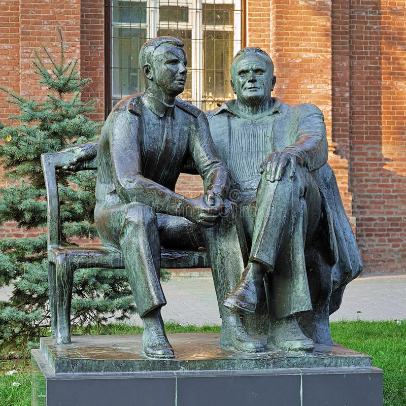 Free Monument To Yuri Gagarin And Sergey Korolev In Taganrog, Russia Royalty Free Stock Photos - 53334068