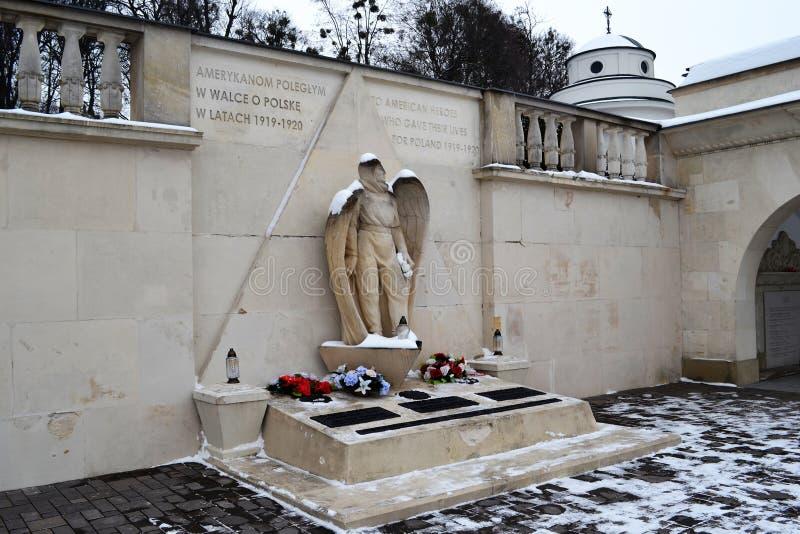 Monument tombé Lviv de soldats américains photos libres de droits
