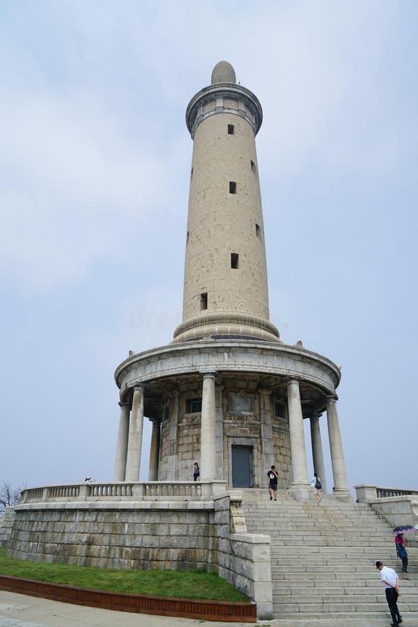 The monument on the top of Paiyushan. ,Lüshun, Dalian, China stock photo