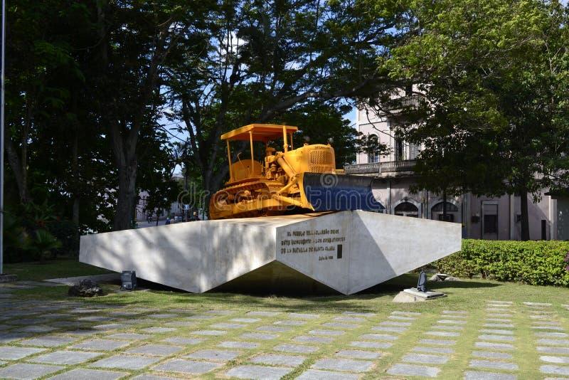 Monument Tren Blindado, Santa Clara de bouteur images libres de droits