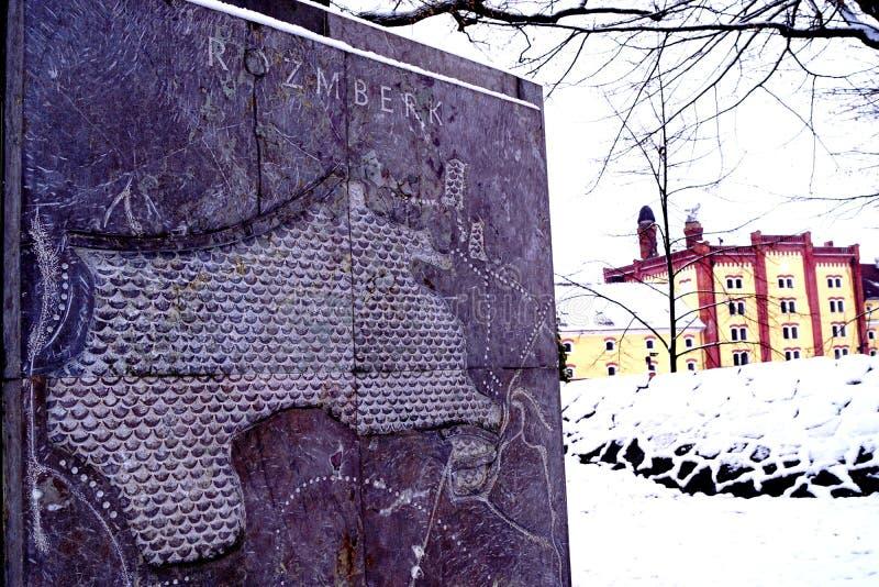 Monument und Brauerei stockbilder