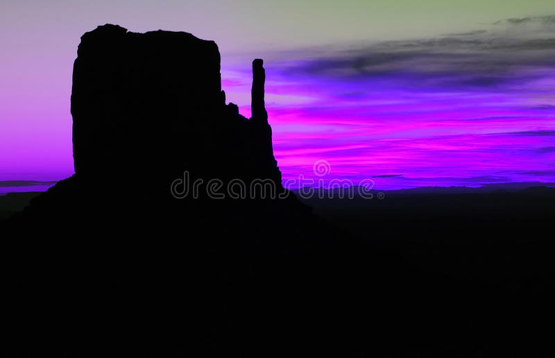 Monument valley. Sunrise in Monument Valley, Utah, USA royalty free stock photos