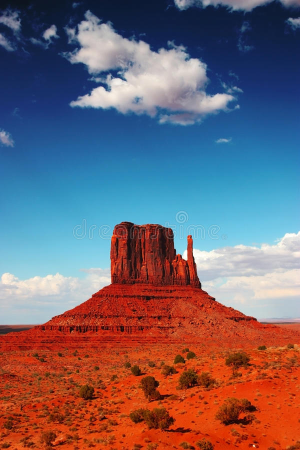Monument Valley. By a hot summer day, Utah, USA royalty free stock photo