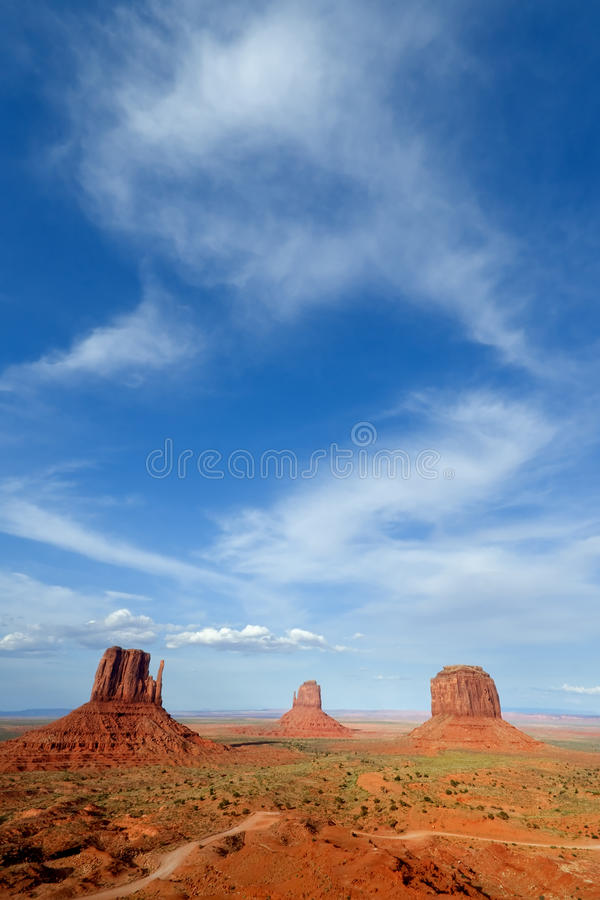 Download Monument Valley stock image. Image of blue, arizona, space - 26314365