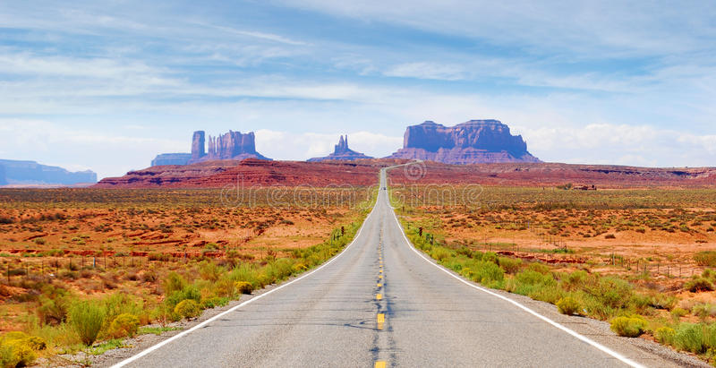 Monument Valley. View of the Monument Valley from U.S. Route 163 royalty free stock photos