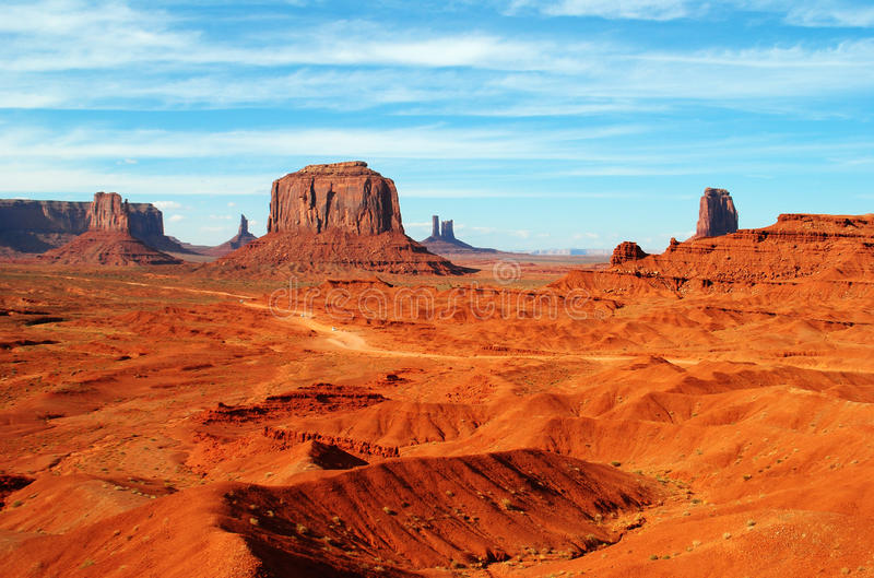 Monument Valley. View of the rock formations in Monument Valley, Arizona and Utah, USA royalty free stock photos