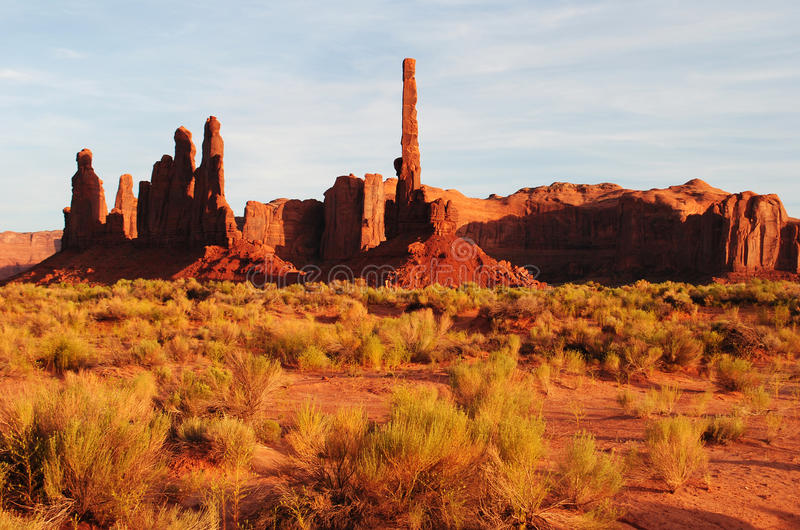 Monument Valley. Totem Pole formation in Monument Valley, Arizona and Utah, USA stock photos