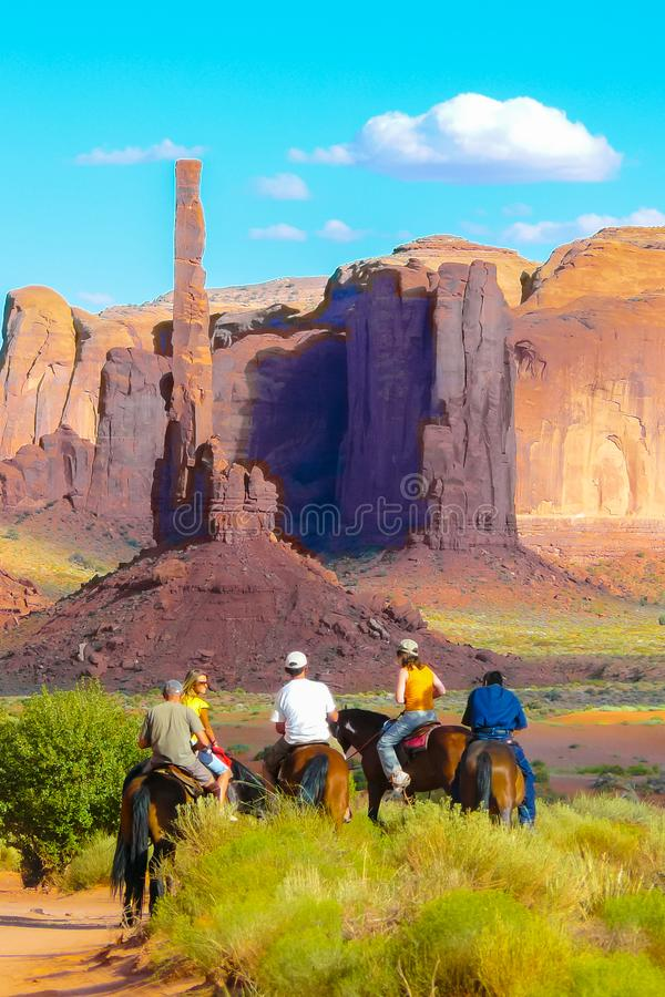 Monument valley totem pole royalty free stock photo